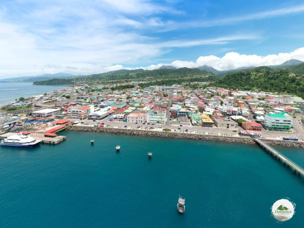 Roseau downtown area (capital) Dominica introduces the natural landscape Dominica, the Nature Island in Caribbean